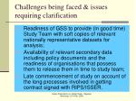 challenges being faced issues requiring clarification