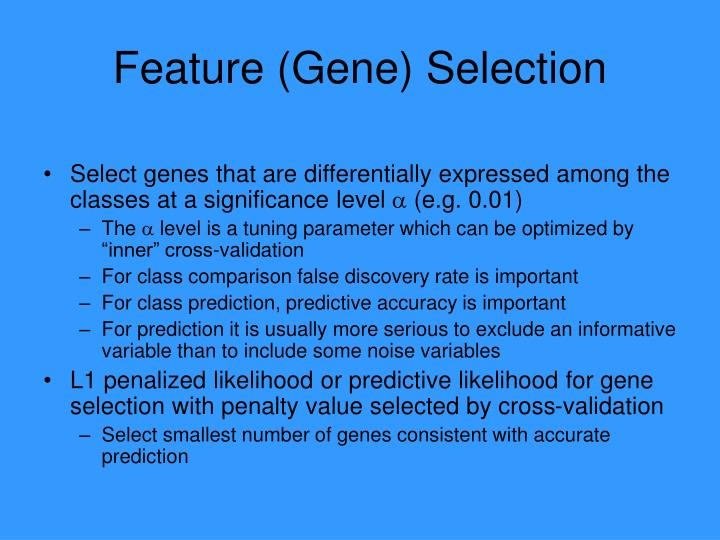 Feature (Gene) Selection