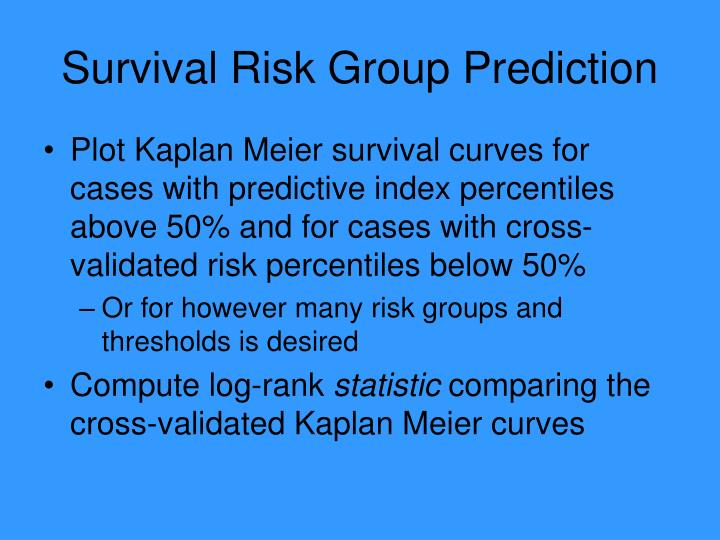 Survival Risk Group Prediction
