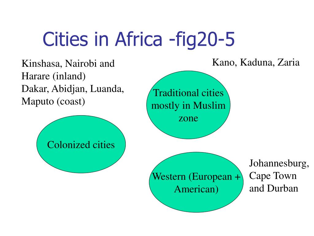 Cities in Africa -fig20-5