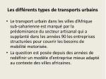 les diff rents types de transports urbains