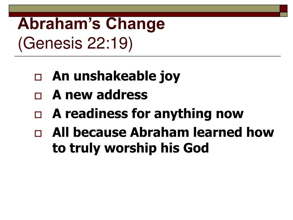 Abraham's Change