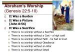 abraham s worship genesis 22 5 10