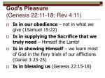 god s pleasure genesis 22 11 18 rev 4 11