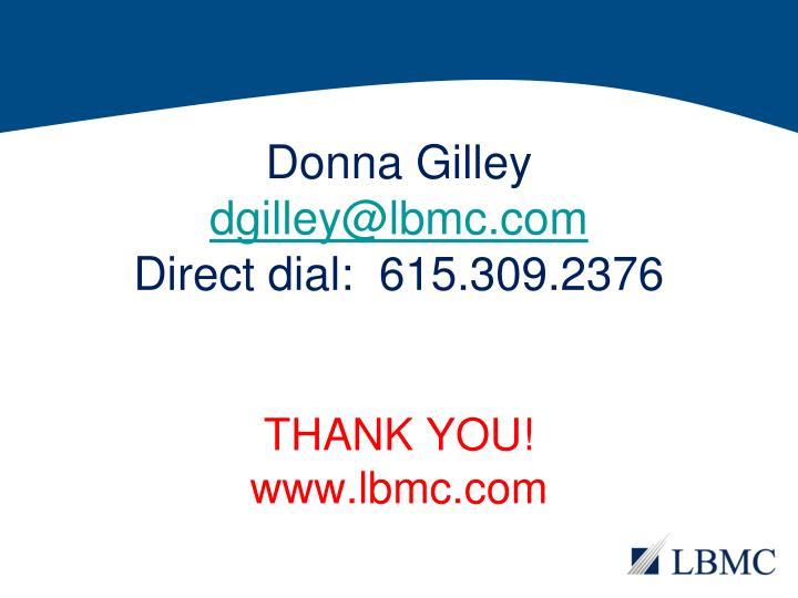 Donna Gilley