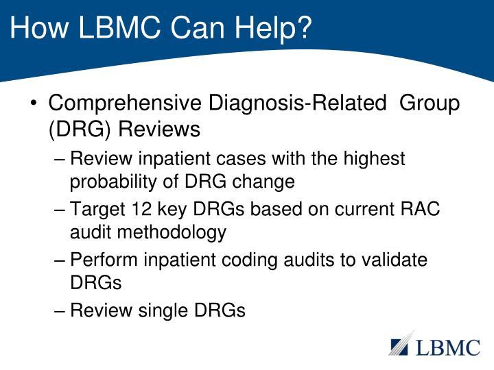 How LBMC Can Help?