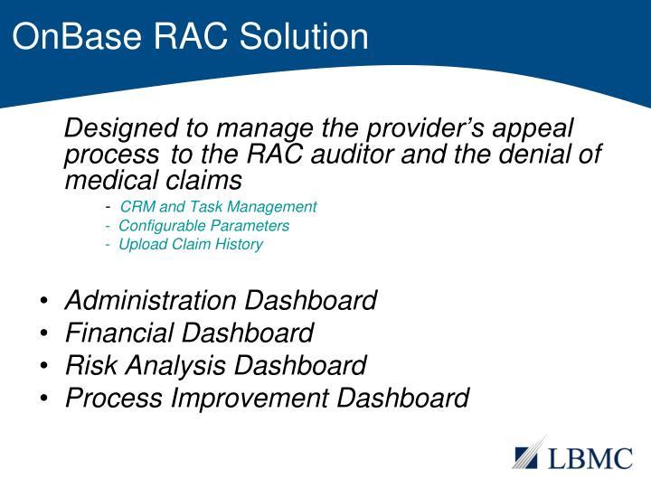 OnBase RAC Solution