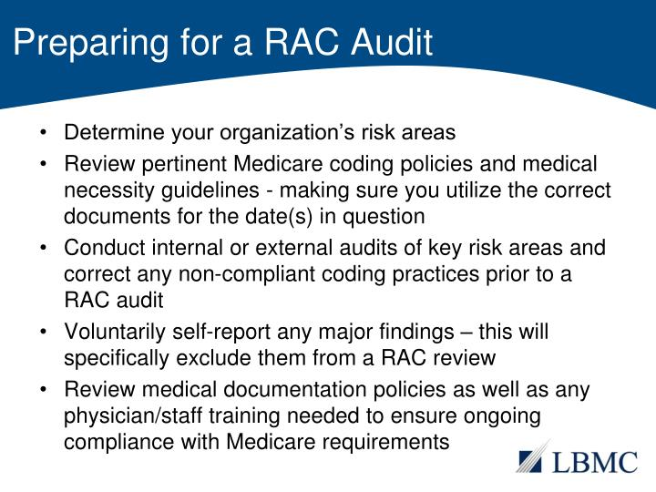Preparing for a RAC Audit