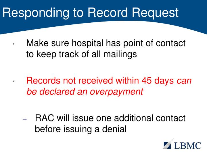 Responding to Record Request