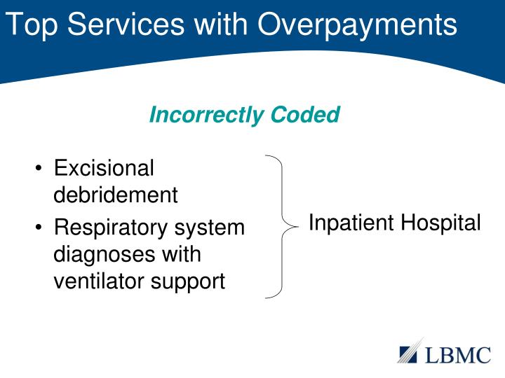 Top Services with Overpayments