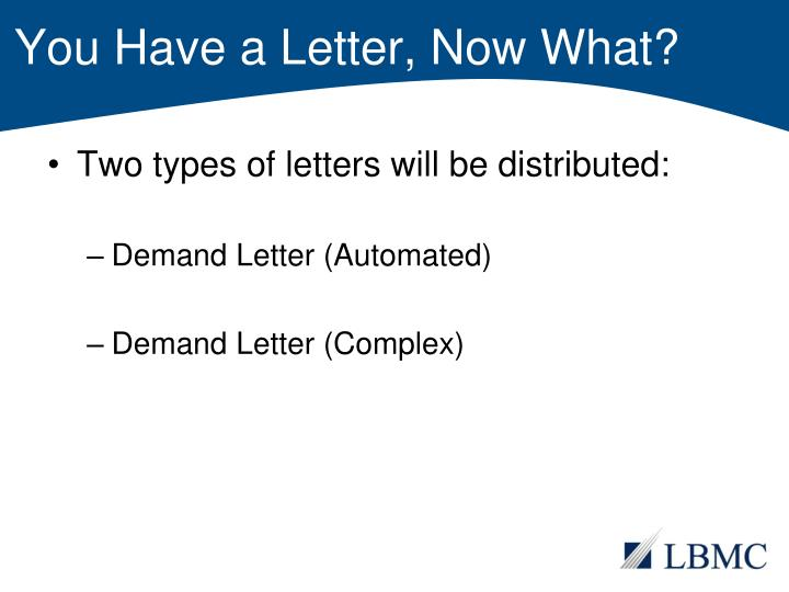 You Have a Letter, Now What?