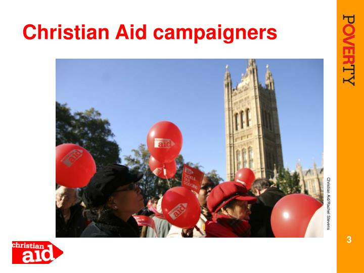 Christian aid campaigners