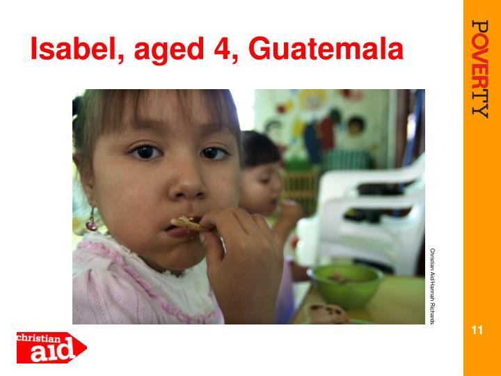 Isabel, aged 4, Guatemala