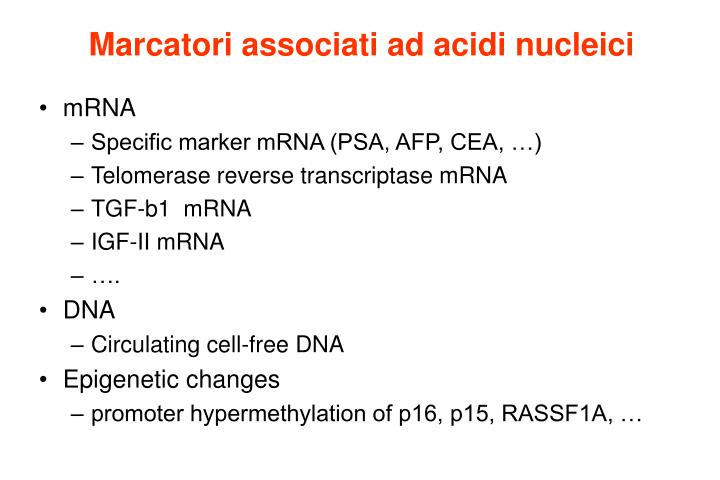 Marcatori associati ad acidi nucleici