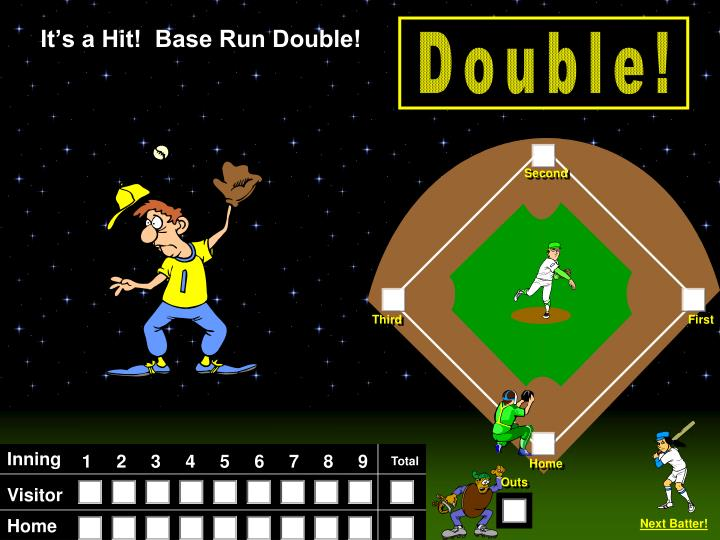 It's a Hit!  Base Run Double!