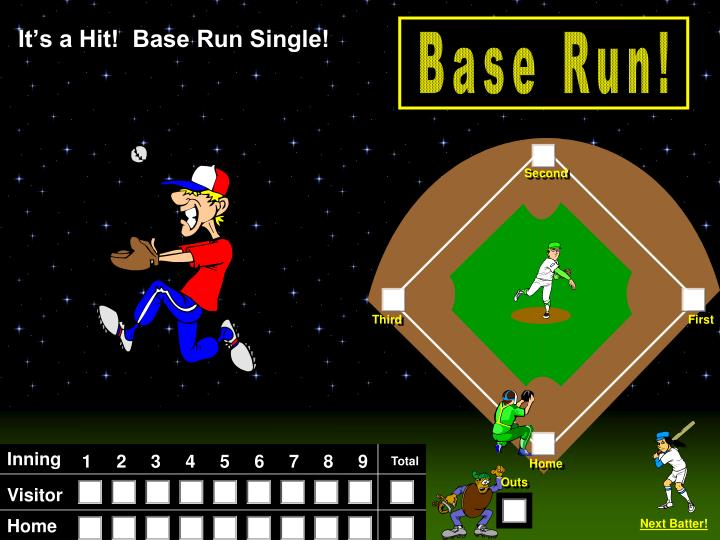It's a Hit!  Base Run Single!