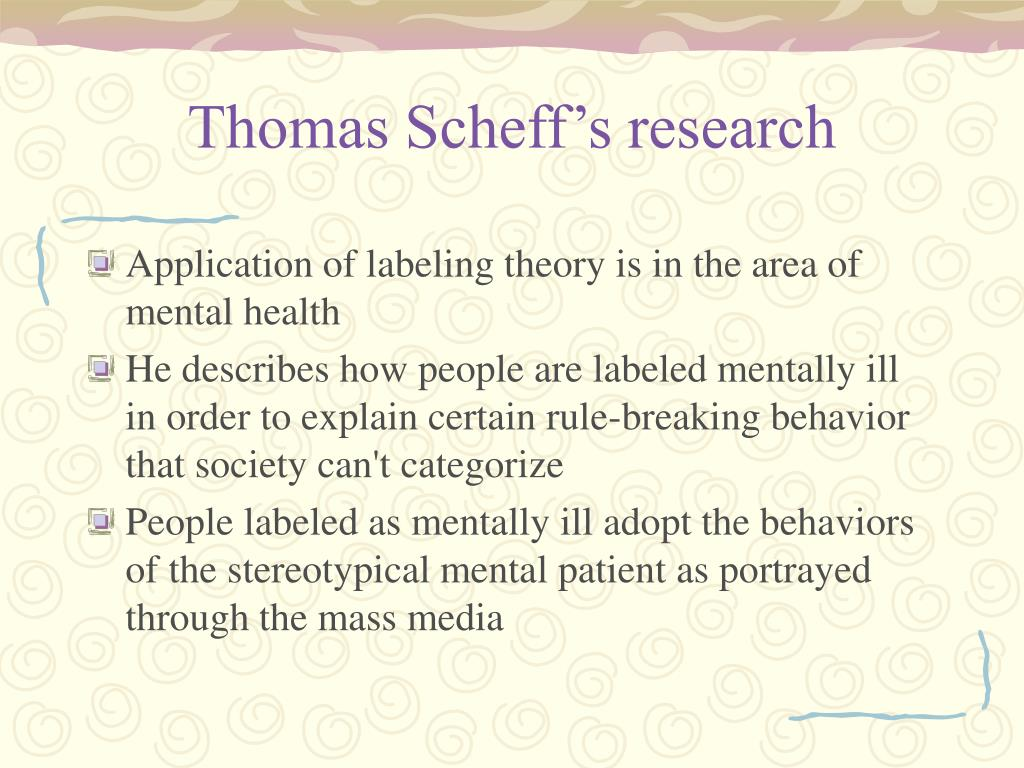 Thomas Scheff's research