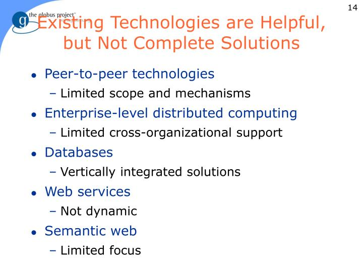 Existing Technologies are Helpful,