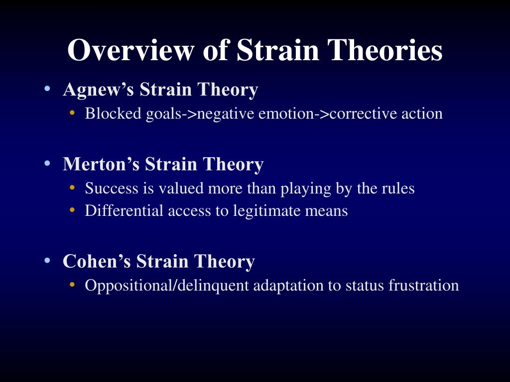 an overview of strain theories
