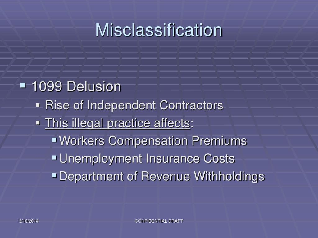 Misclassification