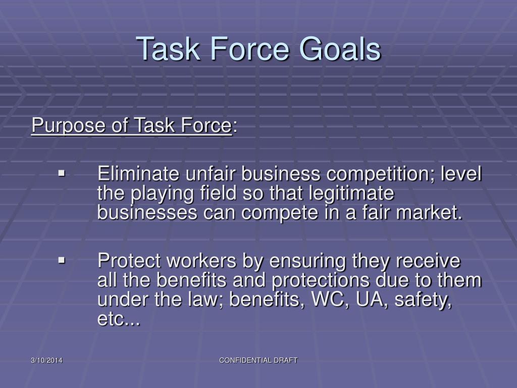 Task Force Goals