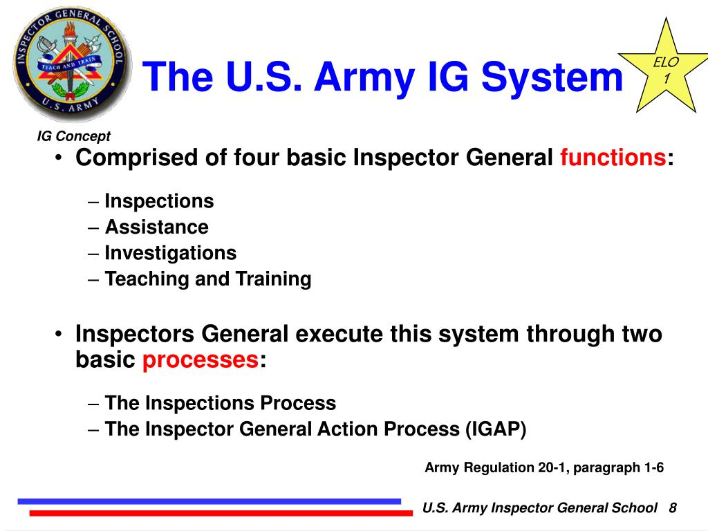 PPT - Inspector General Concept and System PowerPoint