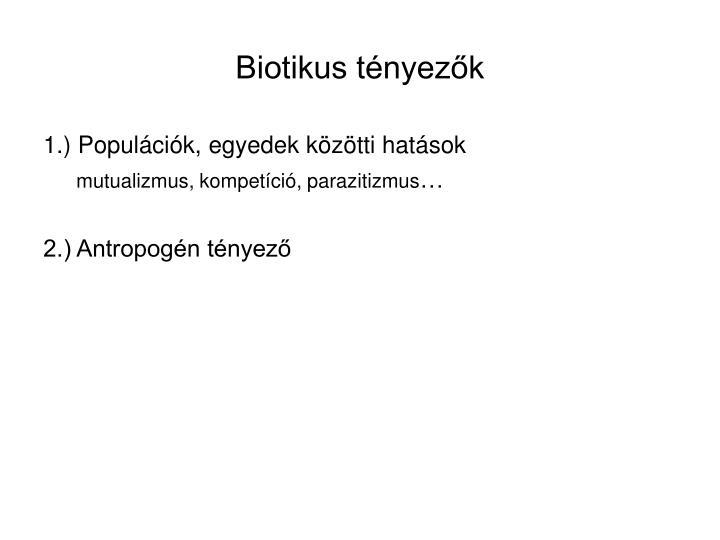 Biotikus tényezők