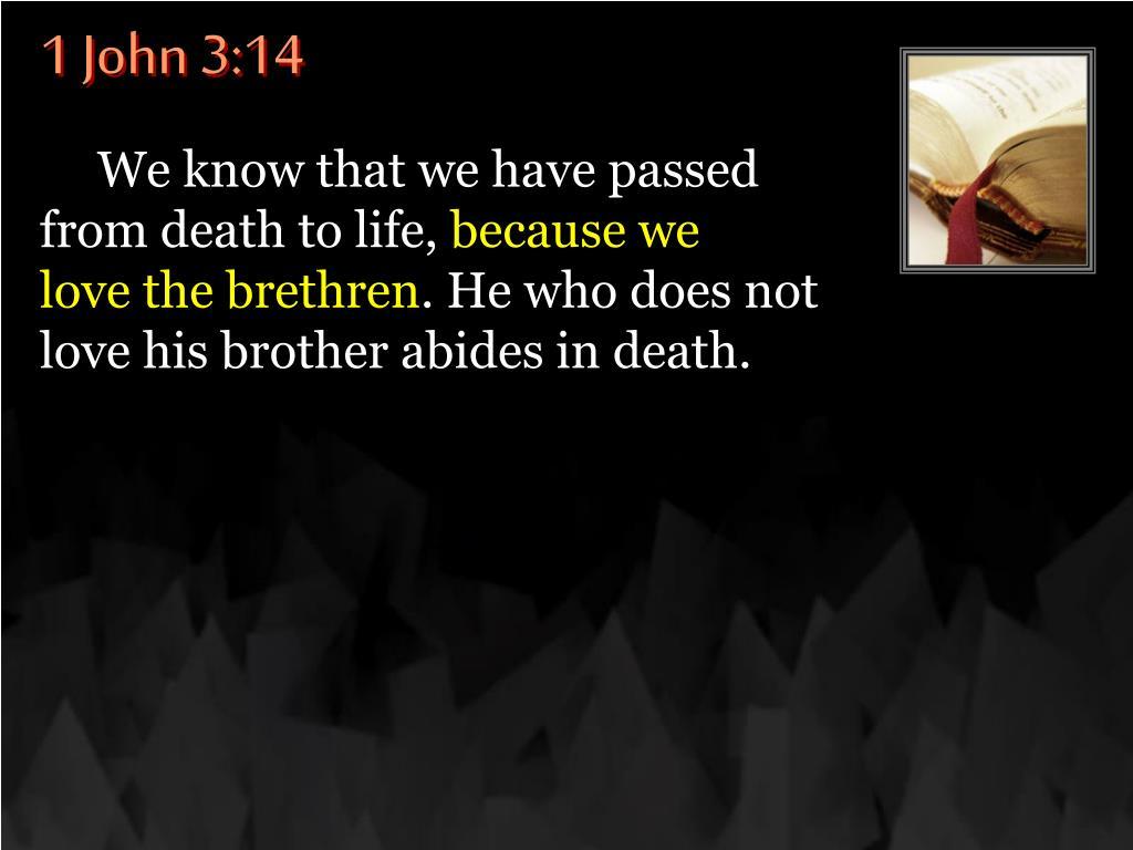 1 John 3:14