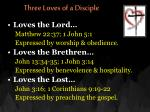 three loves of a disciple9