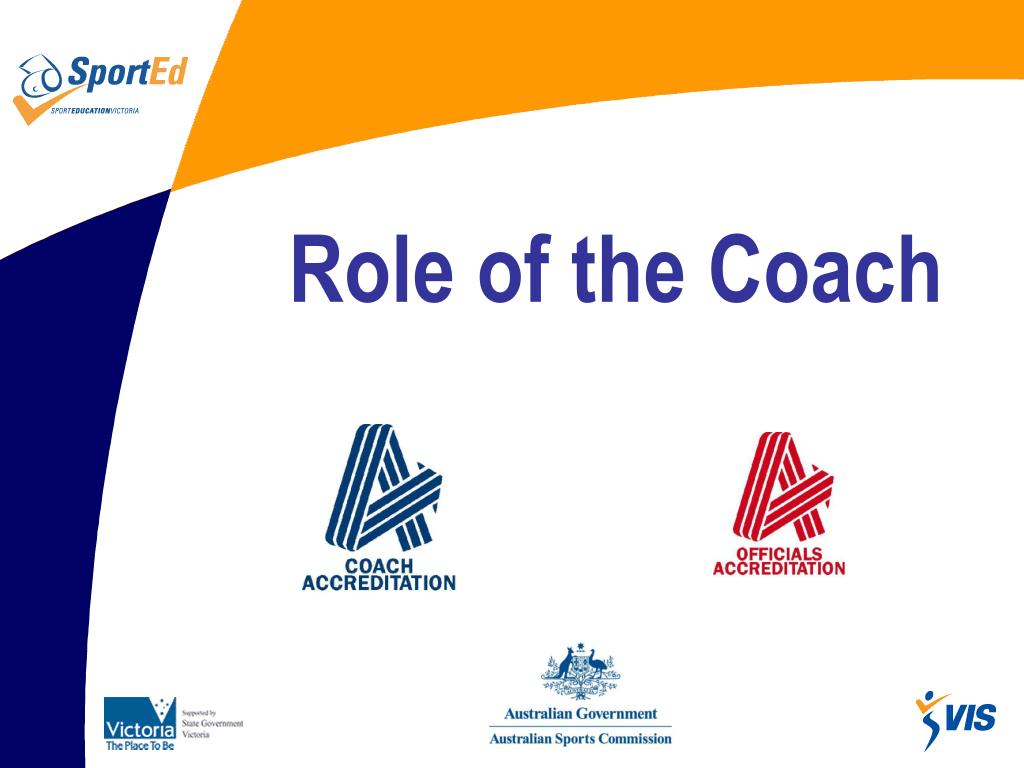 role of the coach l.