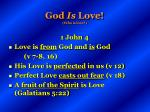 god is love who is love