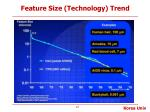 feature size technology trend