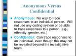 anonymous versus confidential