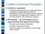 conflict in belmont principles