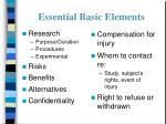 essential basic elements