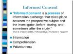 informed consent37