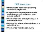 irb structure