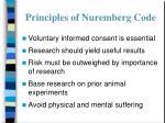 principles of nuremberg code