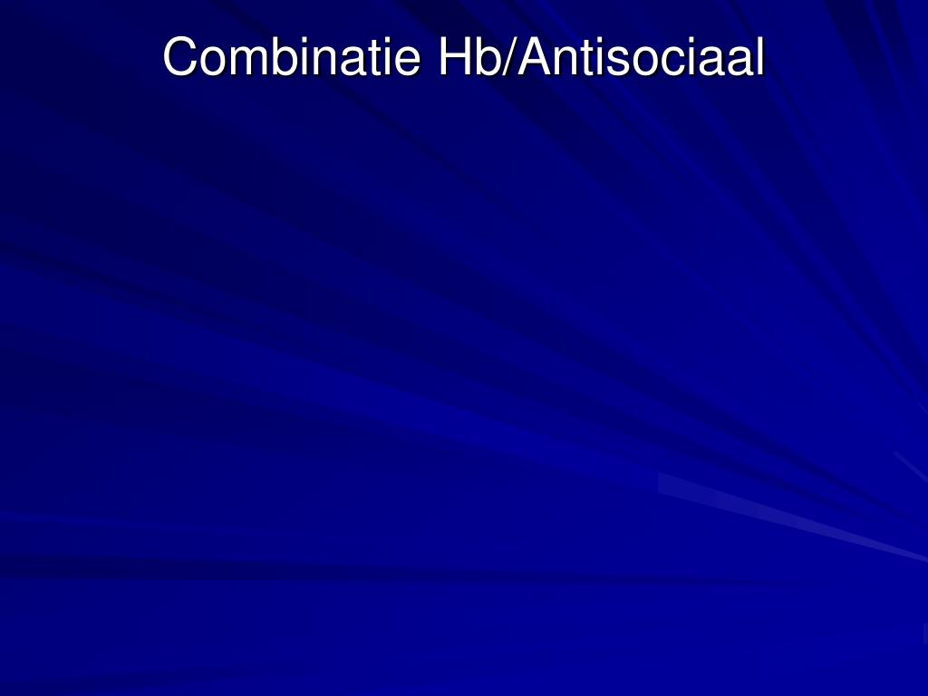 Combinatie Hb/Antisociaal