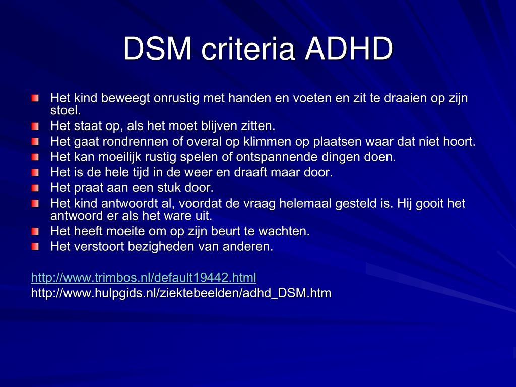 DSM criteria ADHD