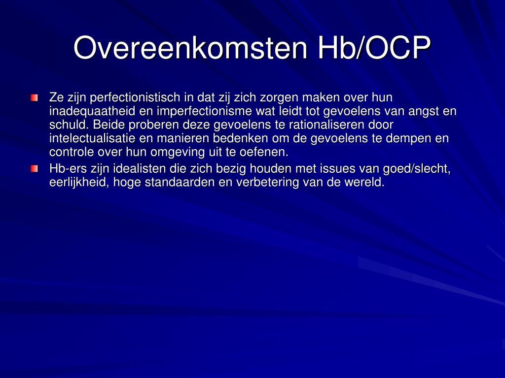 Overeenkomsten Hb/OCP