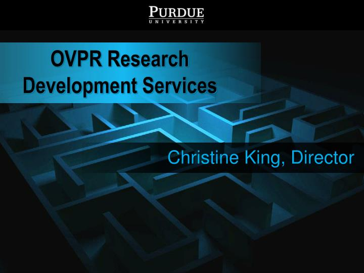 Ovpr research development services