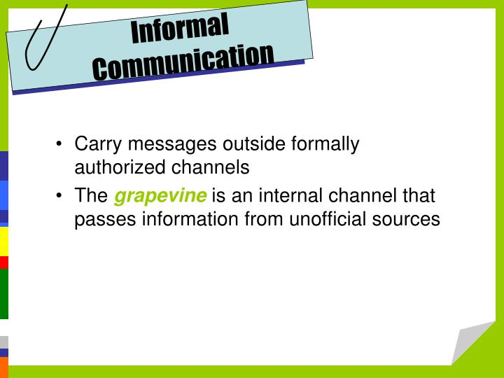 Informal Communication