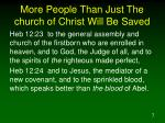 more people than just the church of christ will be saved7