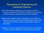 robustness in engineering and computer science