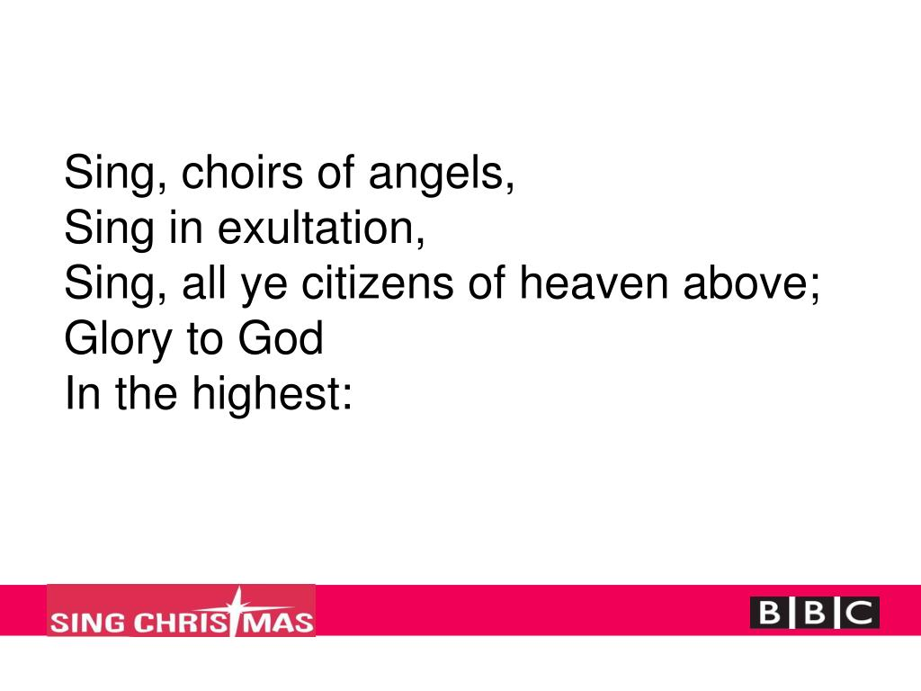 Sing, choirs of angels,