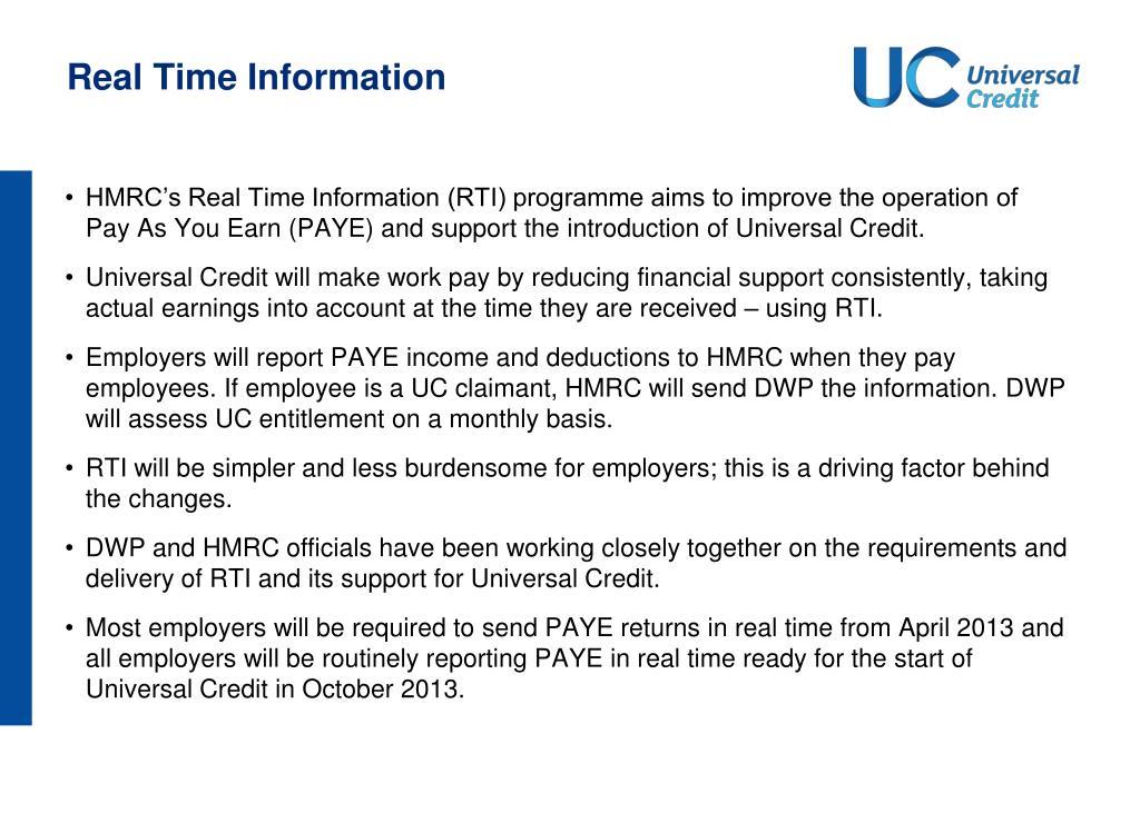 PPT - Universal Credit PowerPoint Presentation - ID:1395819