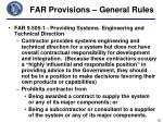 far provisions general rules