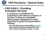 far provisions general rules2