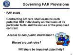 governing far provisions2